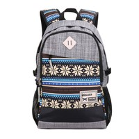 Herebuy - Tribal-print Daypack: Best Backpacks for College Girls and Boys (Grey):Amazon:Clothing