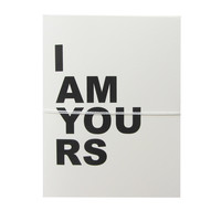 i am yours note cards