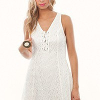 Benita Dress by BB Dakota | White Lace Dress | MessesOfDresses.com