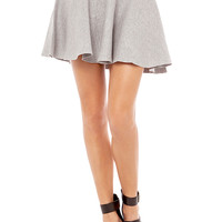 Rehab Fit & Flare Skirt in Heather Grey