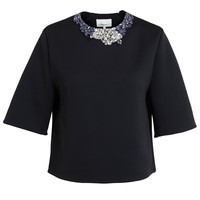 3.1 PHILLIP LIM | Neoprene Top with Embroidered Collar | Browns fashion & designer clothes & clothing