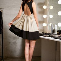 Backless Elastic High Waist Dress