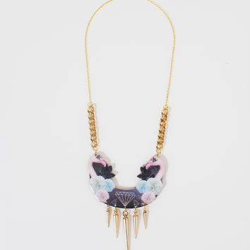 Pyschedelic Flamingos Necklace | HOTTT.COM