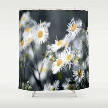 No words Shower Curtain by Laura Santeler