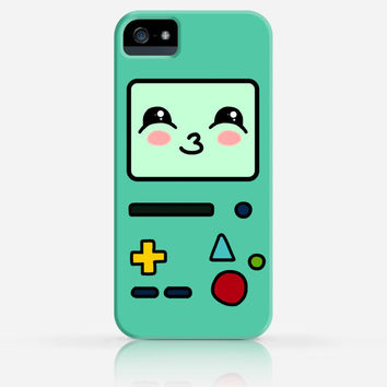 BMO Adventure Time Cute iPhone 4 Case, iPhone 4s Case, iPhone 5 Case, iPhone 5s Case, iPhone Hard Plastic Case