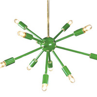 Green Sputnik Chandelier Lighting