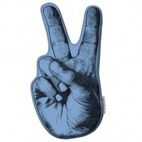 Peace Sign Hand Pillow