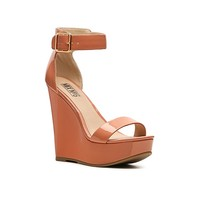 Mix No. 6 Water Patent Wedge Sandal