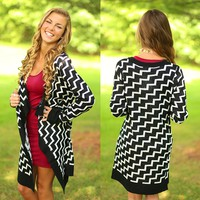 Bold Adventure Chevron Cardigan