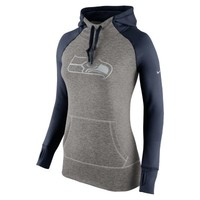 Nike Platinum All Time Pullover NFL Seattle Seahawks Women's Training Hoodie - College Navy