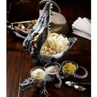 ALLIGATOR SKELETON CONDIMENT SET