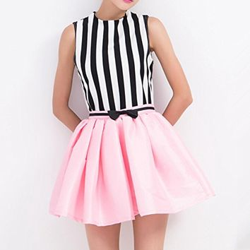 Magic Pieces Stripes Printed Top and Skirt Set 063046