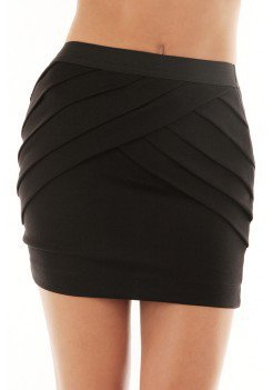 OVERLAP PLEAT SKIRT @ KiwiLook fashion
