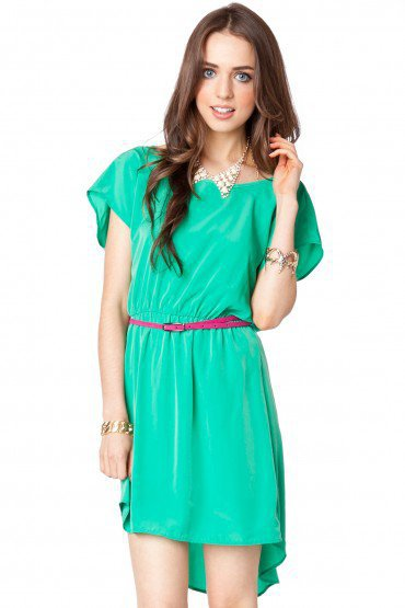 Viera Dress in Green - ShopSosie.com