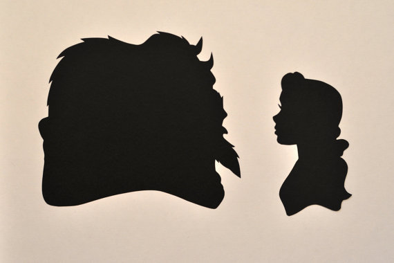 Gallery For gt Disney Silhouettes Beauty And The Beast