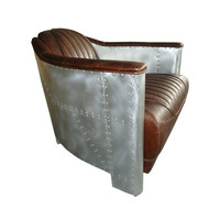Pilot's Lounge Chair in Brown