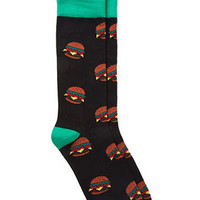 Burger Print Socks
