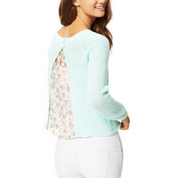 Lace Inset Back Sweater -
