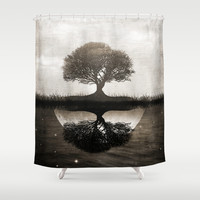 The lone Night reflex Shower Curtain by Viviana Gonzalez | Society6