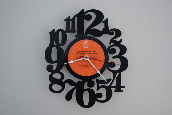 Vinyl Record Album Wall Clock (artist is REO Speedwagon)