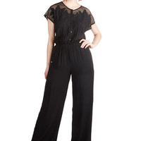 ModCloth Boho Long Short Sleeves Florida by Night Jumpsuit