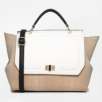 New Look Rita Rouched Winged Satchel
