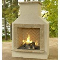 Outdoor GreatRoom SANJUANFP-UF San Juan Unfinished Fireplace with Surround, Insert and Burner Kit Outdoor Fireplaces
