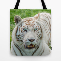 THE BEAUTY OF WHITE TIGERS Tote Bag by Catspaws   Society6