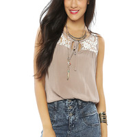 Papaya Clothing Online :: FLORAL LACY CASUAL TOP