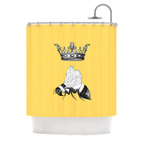 """Catherine Holcombe """"Queen Bee"""" Canary Yellow Shower Curtain"""