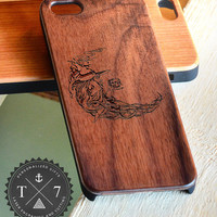 Wizard A103 Wooden iPhone 4/4s iPhone 5/5s case walnut bamaboo wood iphone case