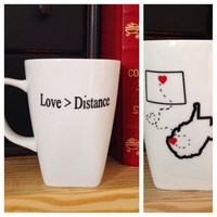 Long distance love coffee mug long distance relationship