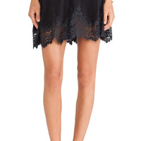 For Love & Lemons Gilly Girl Mini Skirt in Black