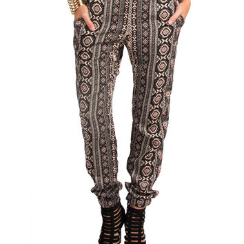 Vertical Tribal Print Lounge Pants