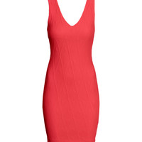 H&M - Jersey Dress - Coral red - Ladies