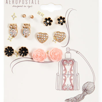 Fragrant Florals Stud Earring 6-Pack