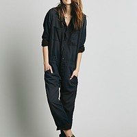 NSF Womens Mechanic Jumpsuit - Black Smoke,