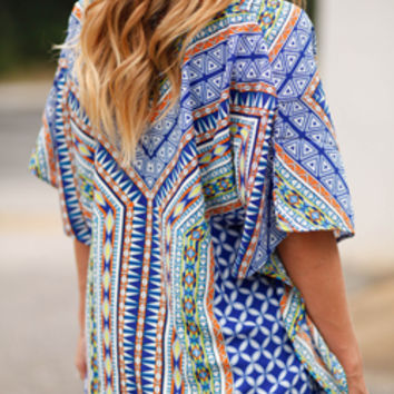 Festive Friday Colorful Aztec Top
