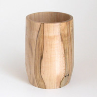 Pencil Cup Handcrafted in Spalted Maple