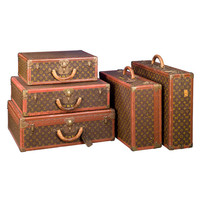 1STDIBS.COM - MS Rau Antiques - Louis Vuitton - Set of Five Louis Vuitton Suitcases