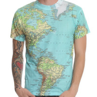 World Map Slim-Fit T-Shirt 3XL