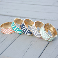 To The Point Chevron Bangles