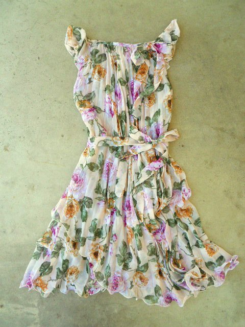 Blooming Rose Garden Dress [3007] - $34.00 : Vintage Inspired Clothing & Affordable Summer Dresses, deloom | Modern. Vintage. Crafted.
