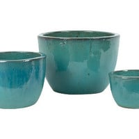 AQUA ROUND POTS | POTS &amp; PLANTERS | garden | Jayson Home &amp; Garden