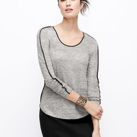 Piped Linen Tee