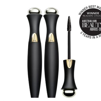 *SP FULL SIZE Secret Weapon 24Hr Mascara Super Long Limited Edition (Black Bottle) DUO - Mirenesse