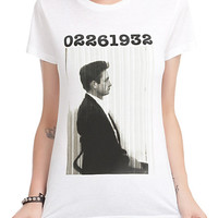 Johnny Cash Mugshot Profile Girls T-Shirt