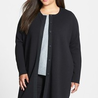 Eileen Fisher Washable Wool Long Jacket (Plus Size)