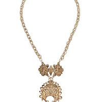 Freedom Found Collection Filigree Section Necklace - Gold