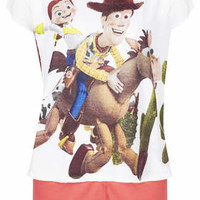 Woody and Jessie Print PJ Set - Red